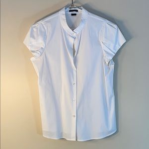 Excellent THEORY Vikie white blouse top large